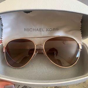 Michael Kors rose gold sunglasses w/ case & cloth